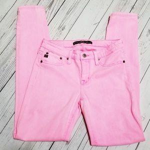 Big Star | Pink Alex Mid Rise Skinny Jeans
